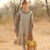 Gilet pull irlandais laine Mori retro ancien Shabby chic tricot vintage bohème