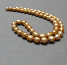 """7.0-7.5 Rice White fresh Water Pearls Loose 6.5-7.0 8-9mm 16/"""" strands AA"""