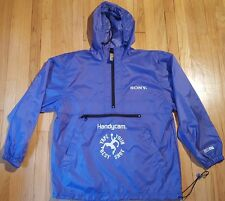 Vintage SONY HANDYCAM jacket M windbreaker blue basketball camera film promo 90s