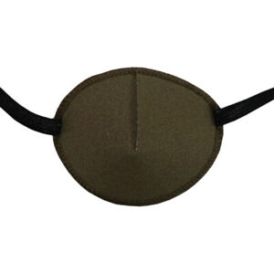 Khaki/Brown - Small Medical Adult Eye Patch, Soft and Washable, Sold to the NHS