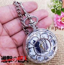 Attack on Titan Pocket Watch Shingeki no Kyojin Necklace Collectible Hollow