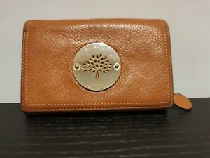 Authentic Mulberry Daria French Purse Wallet Oak tan leather Gold Hardware