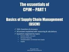 E-book APICS BASICS (BSCM) exam preparation - 350+ Questions and answers(CPIM1)