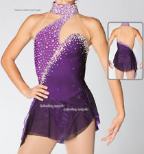 Ice Figure Skating Dresses Custom Women Competition Skating Dress Comfy W068