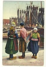 Children in Dutch Shoes and clothing  Holland Netherlands Postcard