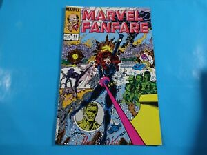 marvel fanfare #11 1st cover app iron maiden  marvel  comics Comic book