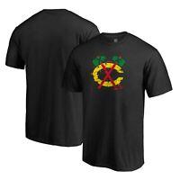 Chicago Blackhawks Fanatics Branded Splatter Logo T-Shirt - Black