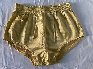 Men's VTG 1930-40's Satin Beachwear / VTG Sz 40 / Yellow-Gold / Dead-stock