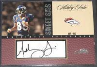 Ashley Lelie Auto Fleer Authentic Denver Broncos Hawaii Rare + Rookie Lot 2002