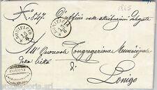 64281 - ITALIA REGNO - STORIA POSTALE: BUSTA in FRANCHIGIA da SAN BONIFACIO 1865