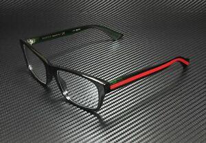 GUCCI GG0006O 006 Black Men's Rectangle Authentic Eyeglasses 55 mm
