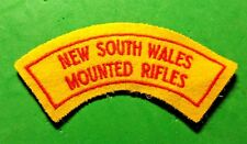 NEW SOUTH WALES MOUNTED RIFLES - SINGLE CLOTH SHOULDER TITLE / PATCH / BADGE