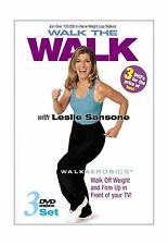 Leslie Sansone - Walk the Walk 3-DVD Set (Miracle Mile / Two Mi... Free Shipping