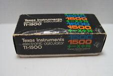 Texas Instruments Model Ti-1500 Electronic Led Calculator= Box Case Instructions