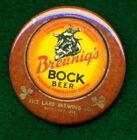 "Bruenig's STYLE Rice Lake Brewing 2-1/4"" RP *PIN* Wisconsin BOCK  Beer Adv"