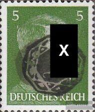 Löbau (Sachsen) 6ND Neudruck Echtheit nicht geprüft mit Falz 1945 Lokaler Überdr