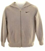 NIKE Boys Hoodie Sweater 12-13 Years Large Grey Cotton  AS02