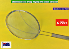 Stainless Steel Deep Frying Oil Mesh Skimmer Strainer Soup Oil (Brand NEW) 17CM
