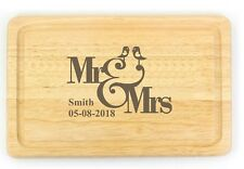 Personalised Engraved Chopping Board Bride and Groom Gift Wedding Gifts
