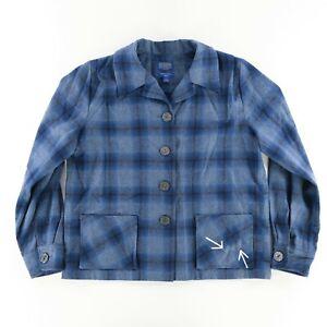 Pendleton Archives Ladies 100% Virgin Wool Shirt Jacket Sz. Large Blue