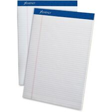Ampad Perforated Writing Pads, Narrow Rule, 8.5 X 11.75, White, 50 Sheets, Dozen