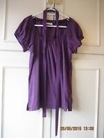Beautiful Purple Plum Top by Jackpot size 34/ UK 10  (#043)