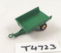 VINTAGE MATCHBOX LESNEY # 51B TIPPING TRAILER ORIGINAL DIECAST GREEN/YELLOW 1965