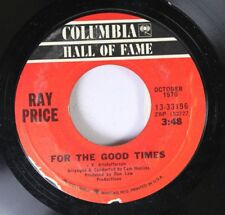 Country 45 Ray Price - For The Good Times / I Won'T Mention It Again On Columbia