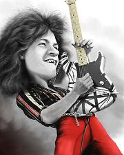 Van Halen Eddie Van Halen Rock Art 1984 5150 Bumper Sticker or Fridge Magnet