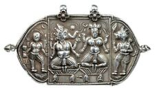 Antique Rare Indian Silver Religious Unusual Jewelry necklace pendant. G10-63 US