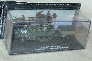 1/72 SCALE ALTAYA MILITARY M16 MGMC & 1-TON TRAILER 447TH AAA BATTALION BELGIUM