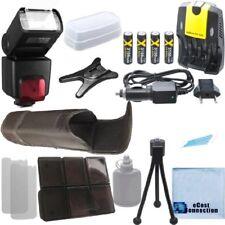 XIT XTSB1010 Flash, 4 Battery, Home / Car Charger for Nikon D800 D800E D1H D2H