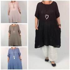 Boho Linen 3/4 Sleeve Dresses for Women