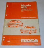 Workshop Manual Mazda 626 Type GD/GV 2,2l Electric Schematics, Stand 01/1988