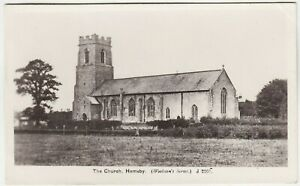 HEMSBY CHURCH - Woolston's Series #J2207 - c1920s real photo Norfolk postcard
