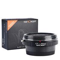 K&F Concept adapter with glass for Contax Yashica mount lens to NIKON F camera