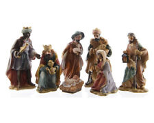 zeitzone Wunderschöne Krippenfiguren Set Handbemalt Weihnachten 7 teilig