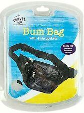 Women Men Black Running Jogging Waist Bags Sport Travel Money Belt Bum Bag Sport