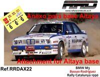 DECAL/CALCA 1/43; ANEXO BMW M3; Bassas-Rodriguez; Rally Catalunya 1990