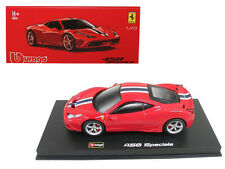 FERRARI 458 SPECIALE RED SIGNATURE SERIES 1/43 DIECAST MODEL BY BBURAGO 36901