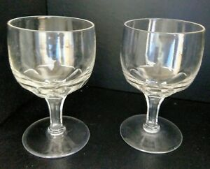 Pair of Early Victorian Facet Cut Rummers c.1845