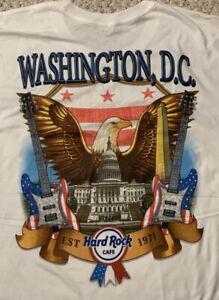 Hard Rock Cafe WASHINGTON DC 2017 City Tee White T-SHIRT XL Mens New + Tags V17