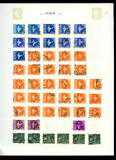 India Maps Album Page Of Stamps #V4931