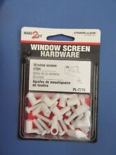 """Prime Line #Pl-7775 Screen Clips With Screws, 7/16"""", Pack of 12 New"""