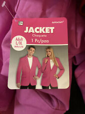Amscan Solid Pink Halloween Costume Top Jacket- Large/ Xl Unisex New!