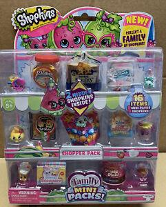 Shopkins 16 Item Pk 8 Figures, 8 Minipacks New Sealed UK Seller 2 Hidden Inside