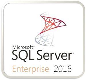 MS SQL Server 2016 Enterprise- Full Server License Pack (Genuine License)