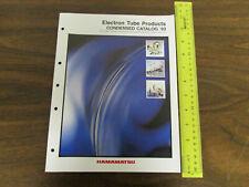 Hamamatsu Electron Tube Products Condensed Catalog 17pp 1993