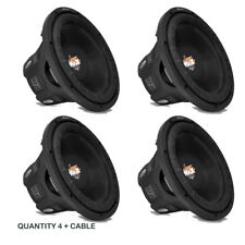 "LOT OF (4) - Lanzar MAXP64 6.5"" 1200W Small Enclosure 4 Ohm Subwoofers (600W)"