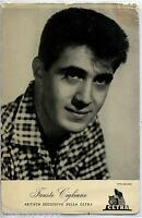 FAUSTO CIGLIANO Cartolina d'epoca CETRA Circa 1960 Photo Music Cantante